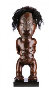 Figure Pou whakairo Maori, New Zealand SOLD: 1,441,500€