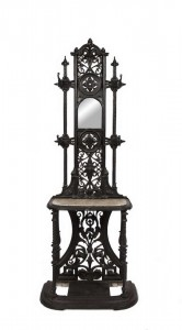 A VICTORIAN COALBROOKDALE CAST IRON HALL STAND (500-700)