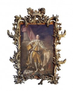 A portrait of George III in coronation robes from Bantry House.