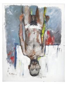 Georg Baselitz - Fingermalerei Akt (Fingerpainting - Nude) (£800,000-1.2 million)  Courtesy Christie's Images Ltd., 2014.