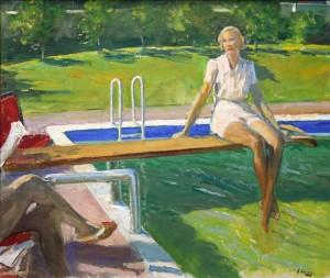 Sir John Lavery (1856-1941) Viscountess Castlerosse, Palm Springs, 1938 (50,000-70,000).