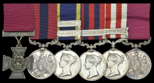 The group of medals, including the VC, awarded to Stephen Garvin.