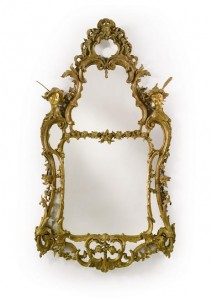 An Important Pair of George II Giltwood Pier Mirrors, in the Manner of Matthias Lock Circa 1750 ($100,000-150,000).