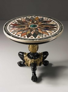 A William IV Ormolu Mounted Cast-Iron Italian Specimen Marble Top Center Table, The Marble Top by Giacomo Rafaelli Dated 1831 ($120,000-180,000).