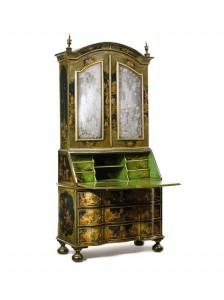 German Baroque Japanned Bureau Bookcase Dresden, second quarter 18th century ($80,000-120,000).