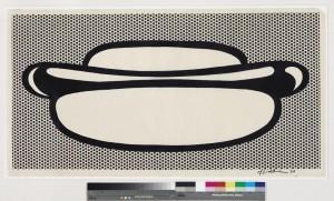 ROY LICHTENSTEIN (1923-1997) Hot Dog ($1.5-2 million). Courtesy Christie's Images Ltd., 2014.