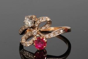 A ruby and diamond dress ring (1,800-2,000)
