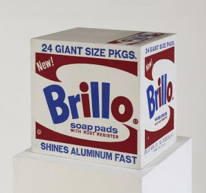 ANDY WARHOL (1928-1987) Brillo Soap Pads Box ($300,000-400,000). Courtesy, Christie;s Images Ltd., 2014