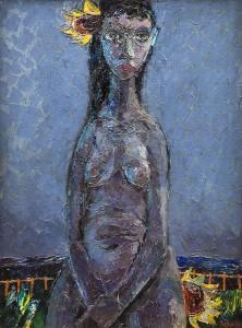 Colin Middleton RHA RUA MBE (1910-1983) Girl with Sunflower