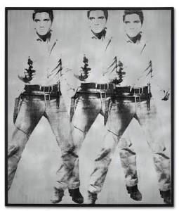 Andy Warhol (1928-1987) Triple Elvis [Ferus Type] 1963 - estimate in the region of $60 million. Courtesy Christie's Images Ltd., 2014