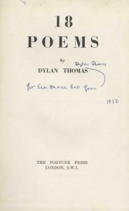 The book of poems given by Dylan Thomas to Sam Hanna Bell.