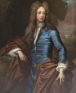 A portrait of Edward Hodson attributed to Godrey Kneller.