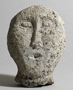 Celtic Irish stone head, limestone (6,000-8,000).