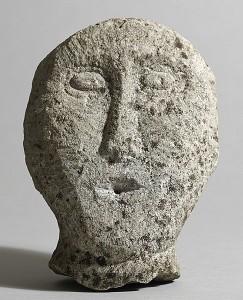 Celtic Irish stone head, limestone (6,000-8,000).
