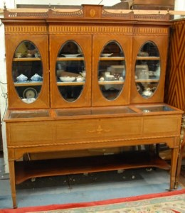 A 19th century display cabinet stamped Millar and Beatty, Grafton St., Dublin (1,500-2,000)
