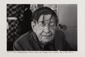 John Minihan's portrait photograph of poet W.H. Auden from 1972 (300-400).