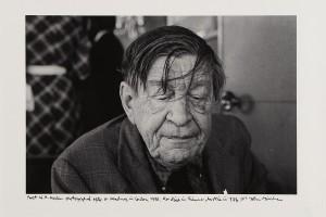 John Minihan's portrait photograph of poet W.H. Auden from 1972 (300-400).