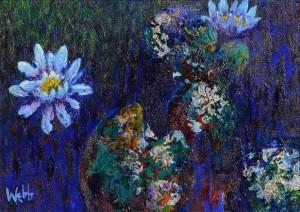 Kenneth Webb RWA FRSA RUA (b.1927) Lily Pond  (3,000-4,000).