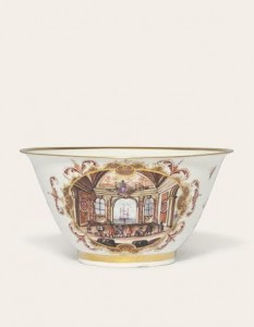 A MEISSEN SLOP-BOWL CIRCA 1723-24 (£15,000-20,000).  Courtesy Christie's Images Ltd., 2014