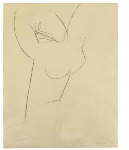 AMEDEO MODIGLIANI, Cariatide (1913), $120,000 – 180,000 Courtesy Christies Images Ltd., 2014