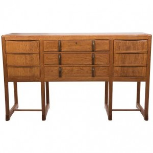 Early oak sideboard by Gordon Russell in Cotswold School Style at Holly Johhson.