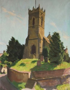 William John Leech (1881-1968) - The Church at Thornton-le-Dale, Yorkshire (3,000-5,000).