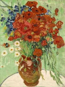 Vincent van Gogh's STILL LIFE, VASE WITH DAISIES AND POPPIES