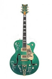 U2/Bono - A circa 2002 custom prototype Gretsch Irish Falcon hollow body electric guitar (£120,000-180,000).