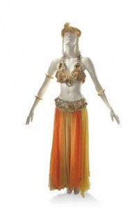 An elaborate harem costume worn by Marilyn Monroe as Theda Bara in her role as Cleopatra (£300,000-500,000).