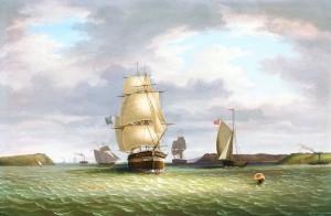 George Mounsey Wheatley Atkinson (1806-1884) - Brig Entering Cork Harbour.