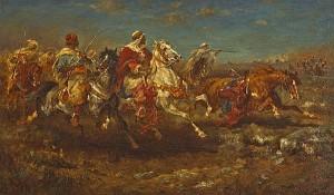 Aloysius O'Kelly (1853-1936) The Desert Charge ( 6,000-8,000).