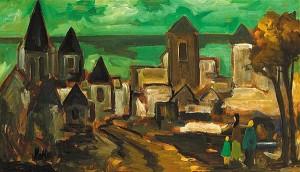 Markey Robinson (1918-1999) - Entering the Old City (5,000-7,000).