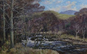 Fergus O'Ryan (1911-1989) - March Day near Laragh, Co. Wicklow (1,000-2,000).