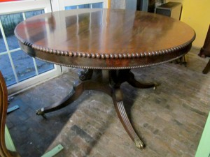 "A Regency circular centre table, 4'6"" in diameter."