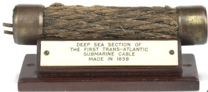 The first transatlantic submarine cable.
