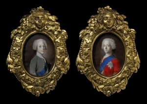 Left: Prince Henry Benedict Stuart 1725-1807 and Right: Prince Charles Edward Stuart 1720-1788 by Jean-Etienne Liotard c.1736-8.