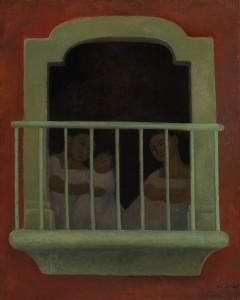 Diego Rivera - El balcón 1921 ($300,000-400,000).