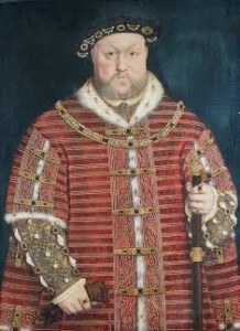 Studio of Hans Holbein Portrait of Henry VIII Three quarter length , wearing a wide velvet surcoat, holding a stick Bears initials and dated 1542 (£800,000-1,200,000)