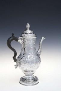 An Irish George III coffee pot, Dublin c1770 mark of Charles Mullen (4,000-6,000_