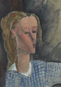 Amedeo Modigliani  Portrait of Beatrice Hastings 1916 ($5-7 million).  Courtesy CHRISTIE'S IMAGES LTD. 2015