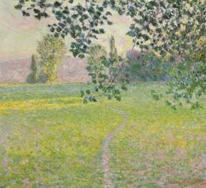 Claude Monet, Paysage de matin (Giverny), oil on canvas, 1888. US$6-8 million Courtesy CHRISTIE'S IMAGES LTD. 2015