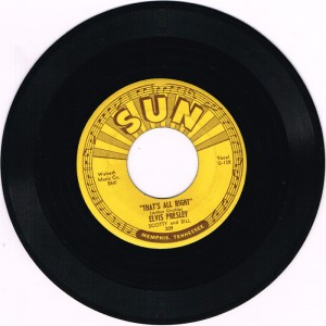 Elvis Presley, That's All Right / Blue Moon of Kentucky, 1955, Sun Records number 209. sold for 1,000.