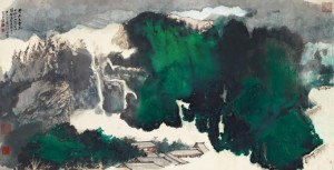 Zhang Daqian's Ancient Temple in the Mist