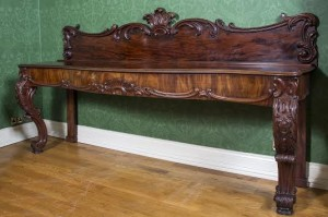 LARGE VICTORIAN MAHOGANY SIDE OR SERVING TABLE