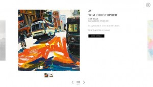 A museum view of eBay and Sotheby's live auction platform. Courtesy Sotheby's