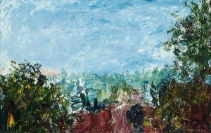 Jack Butler Yeats RHA (1871 - 1957)Hearing the Nightingale (1936) (25,000-35,000).