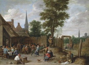 David Teniers the Younger (1610-1690)  - A village inn with peasants dancing and merry making to the music of a hurdy-gurdy (£1.2-1.8 million) © Christie's Images Limited 2015