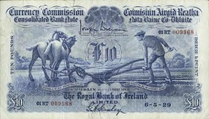This extremely rare 1929 Royal Bank of Ireland £10 note could made up to £5,000.
