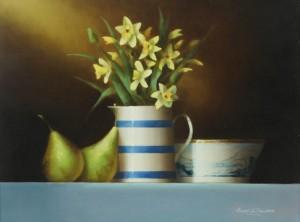 David ffrench le Roy b.1971 SPRING FLOWERS (700-850)