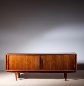 A c1965 Danish rosewood sideboard by Bernard Pedersen and Sons, Copenhagen (2,000-3,000).